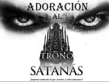 trono adoracion satanica