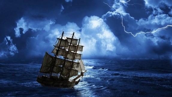barco calma tormenta
