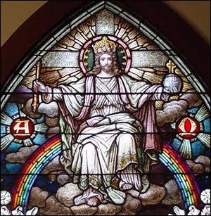 Cristo Rey vitral