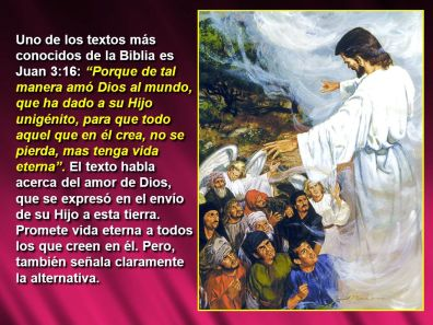 dios padre dio a su hijo