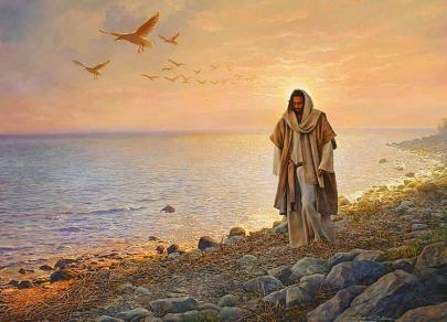 Jesucristo frente al lago