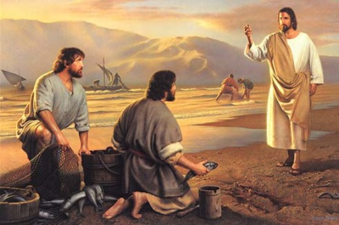 Jesus calling His disciples