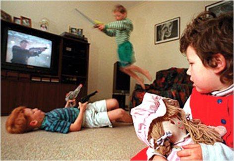violencia niños y television