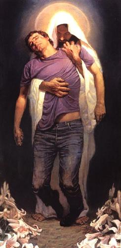 misericordia levantando al caído