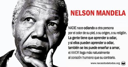Nelson Mandela amor y odio