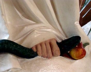nuestra sra. pisando la cabeza de la serpiente
