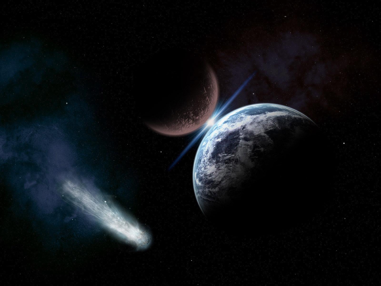 tierra asteroide cometa oscuridad
