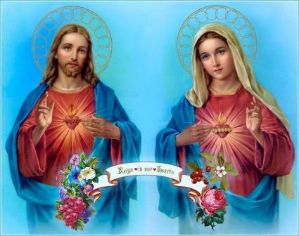 triunfo corazones de jesús y maría