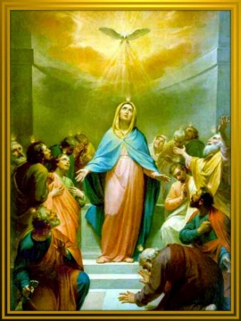 virgen reina de los apostoles
