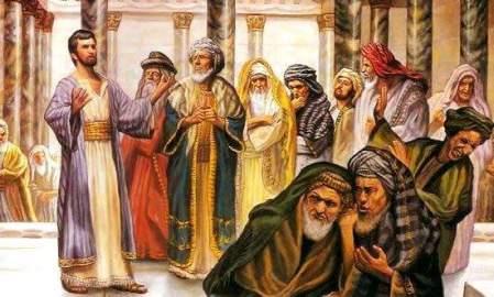 fariseos burlándose