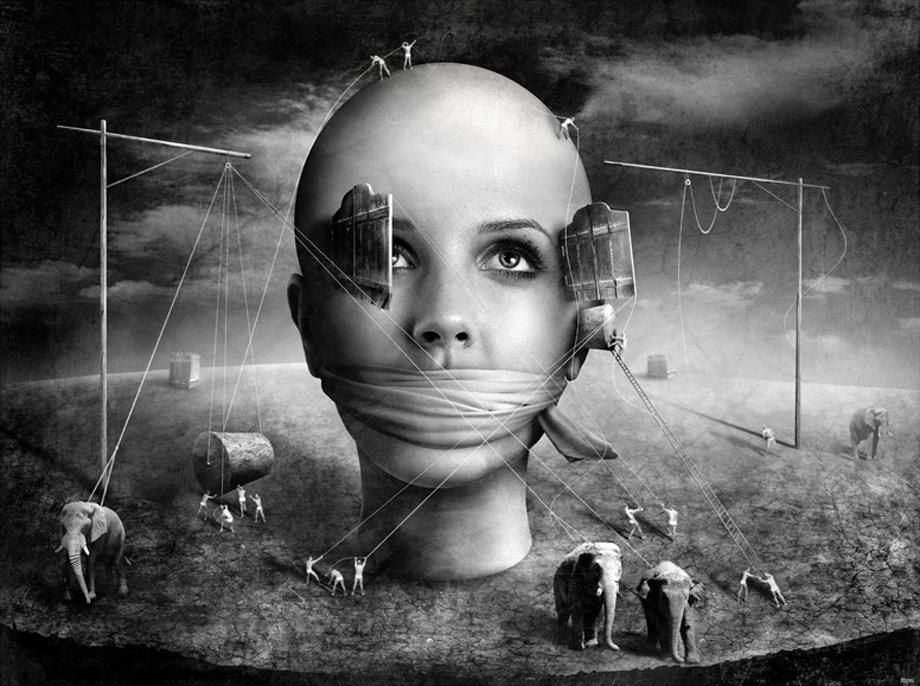 silencio obligado y sin libertad de pensamiento
