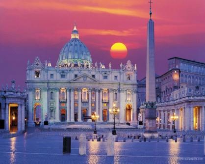 la_piazza_san_pietro_roma