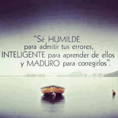 error y humildad
