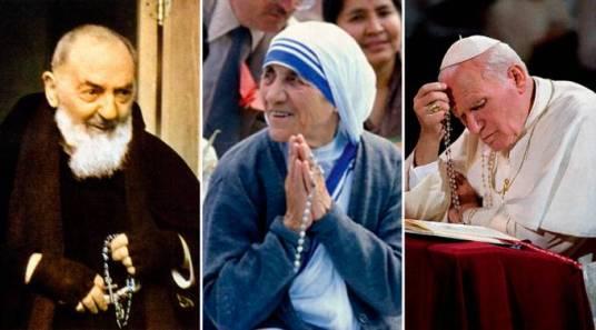 armados con el rosario antosPioTeresaJuanPabloII_071015