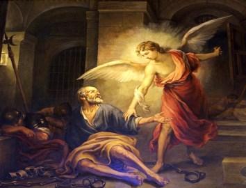 san pedro liberado por un angel
