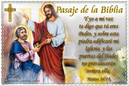 evang iglesia PROMESA DE JESUS A PEDRO