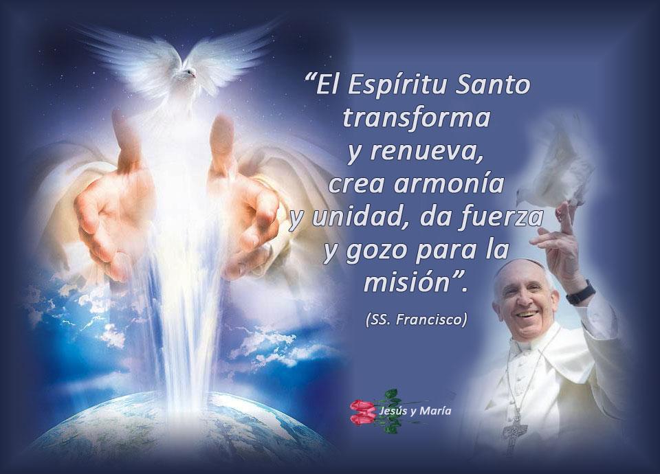 fuerza gozo y poder El Espiritu Santo