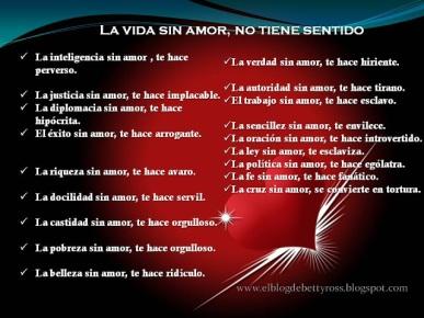 la vida sin amor no tiene sentido