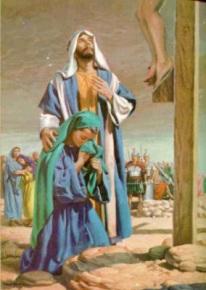 calvario Maria y juan hijo