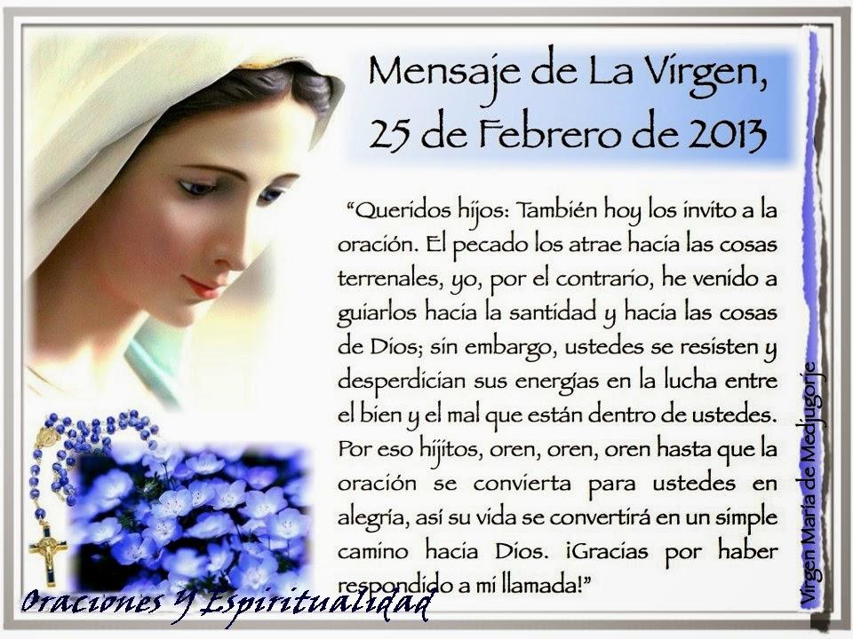 mensaje de la virgen maria