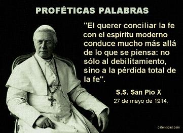 profecia apostasia Pío X aggiornamento pequeño