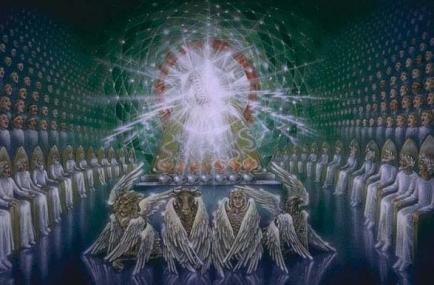 trono dios jerarquia-angelical-celestial-angeles-catolica-cristianismo
