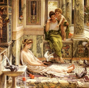 ALEX casa de publio edward-john-poynter-corner-of-the-villa