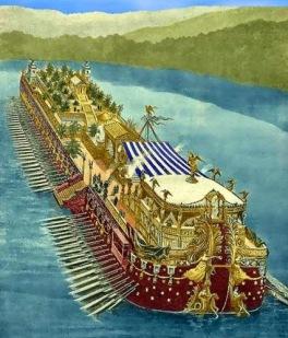 barco del imperio romano