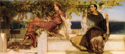LEONARDO enamorados-lawrencetadema-the-conversion-of-paula-by-saint-jerome-1898