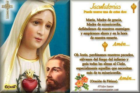 FATIMA jaculatoria-rosario