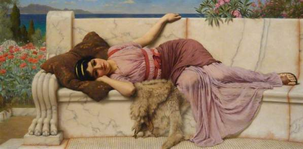 alex Godward, John William, 1861-1922; On the Terrace