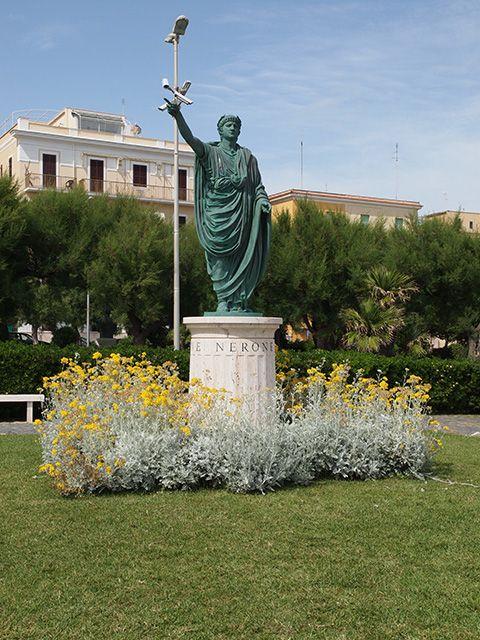 Statue of Emperor Nero Anzio Roma Italy