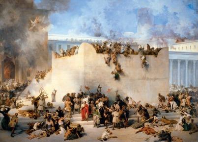 incendio-y-saqueo-del-templo-oleo-por-francesco-hayez-1867