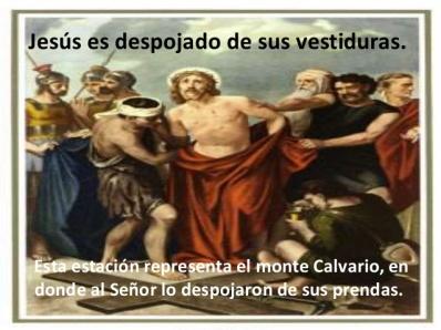 EL DUEÑO Y CREADOR DEL UNIVERSO, TUVO QUE USAR EL VELO DE SU MADRE, PARA CUBRIR SU DESNUDEZ...