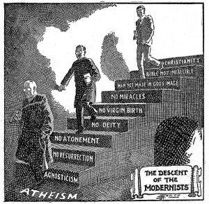 descenso del modernismo al ateismo