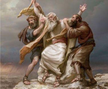 oracion y guerra moises-levanta-suas-maos